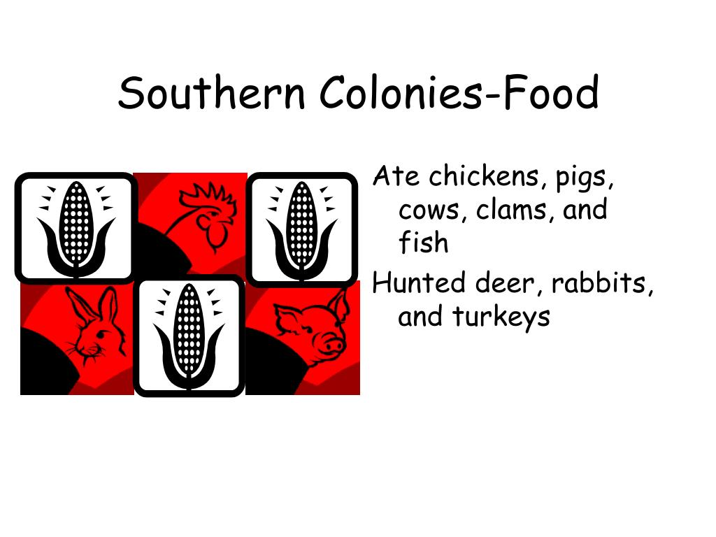 Southern Colonies-Food