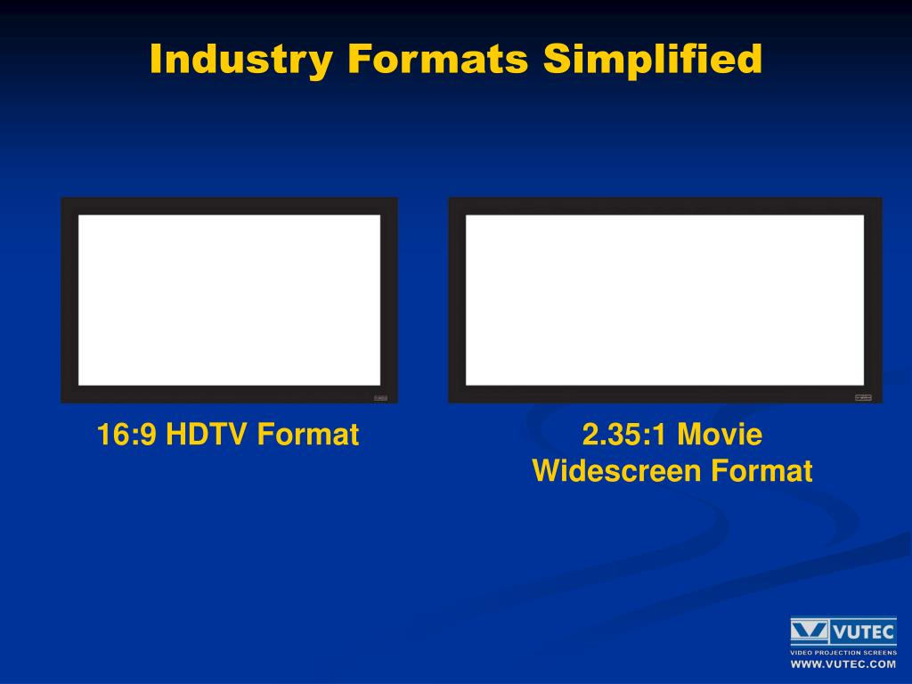 Industry Formats Simplified