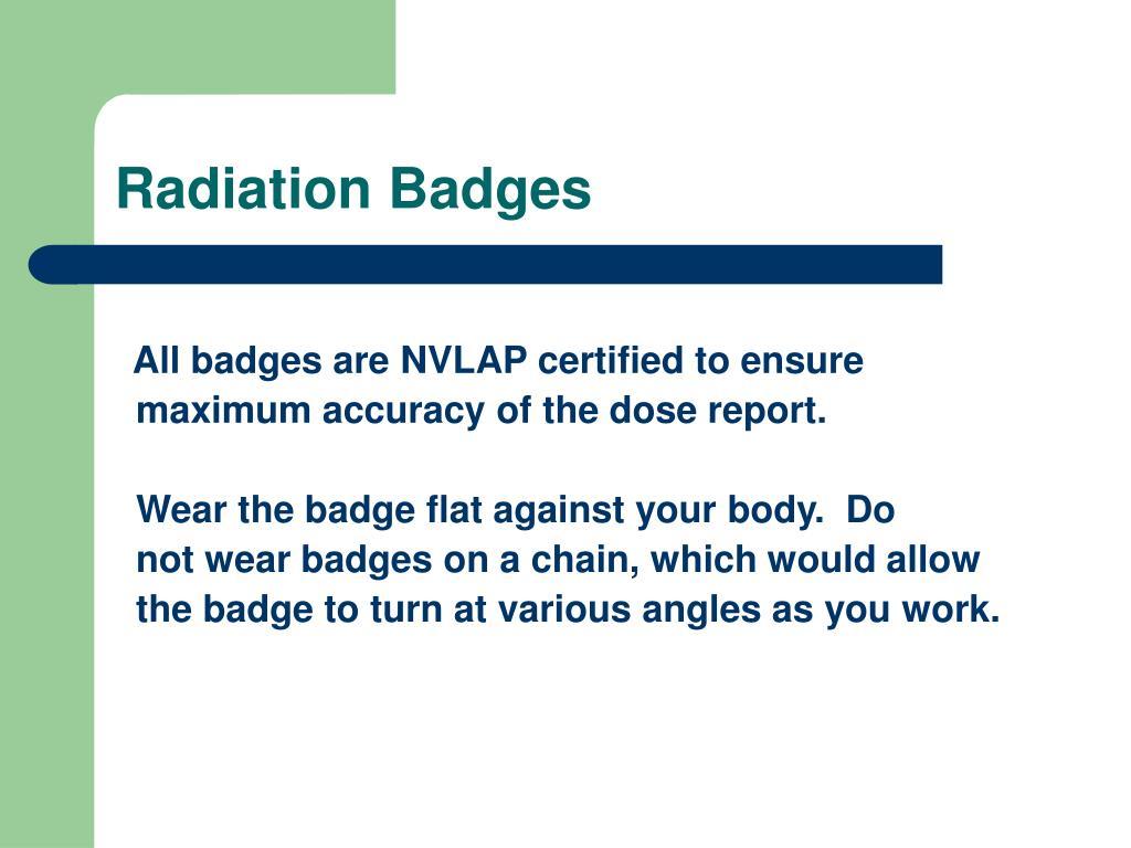 Radiation Badges
