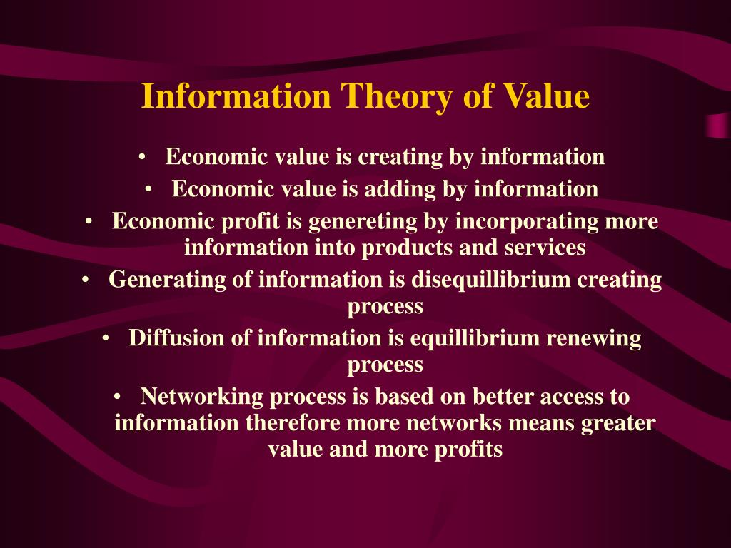 Information Theory of Value