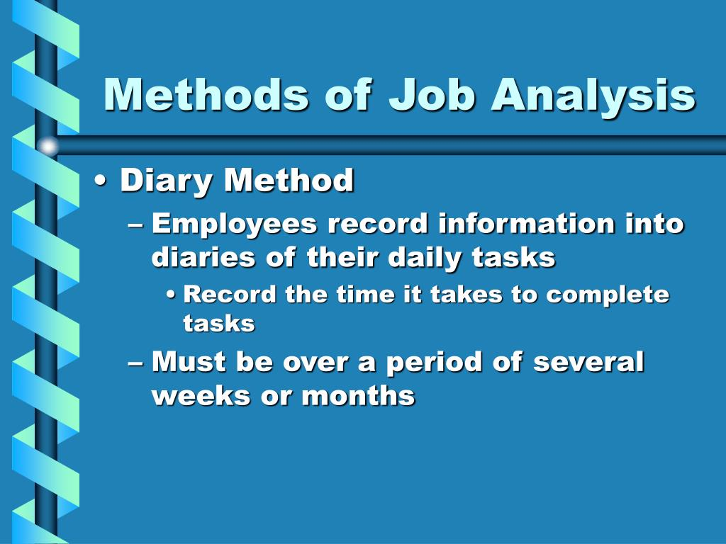 Methods of Job Analysis