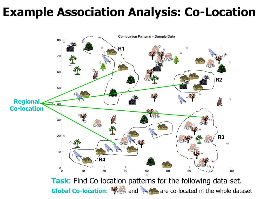 Example Association Analysis: Co-Location