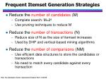 frequent itemset generation strategies