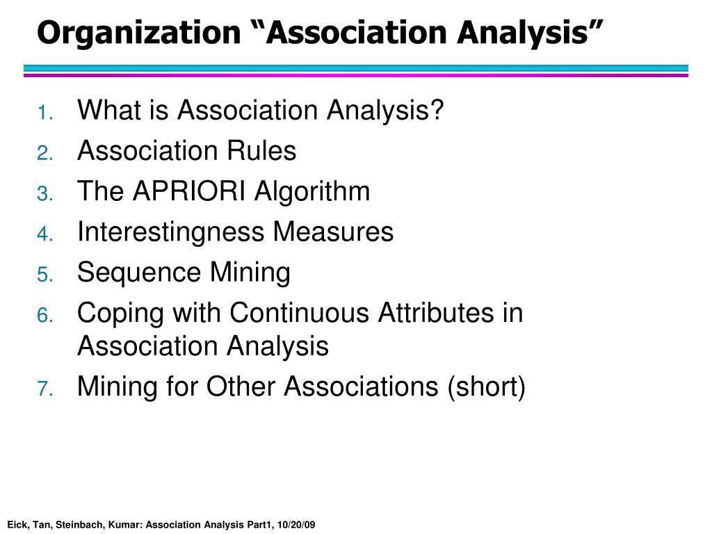 "Organization ""Association Analysis"""