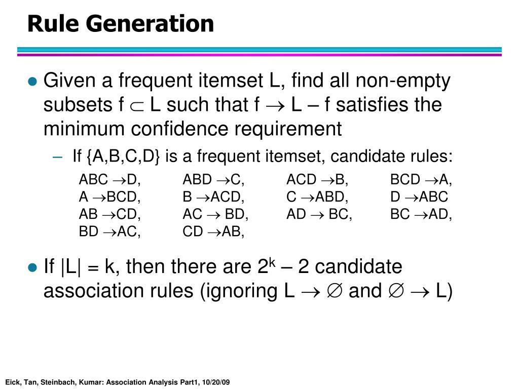 Rule Generation