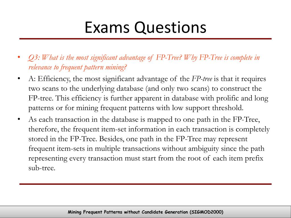 Exams Questions