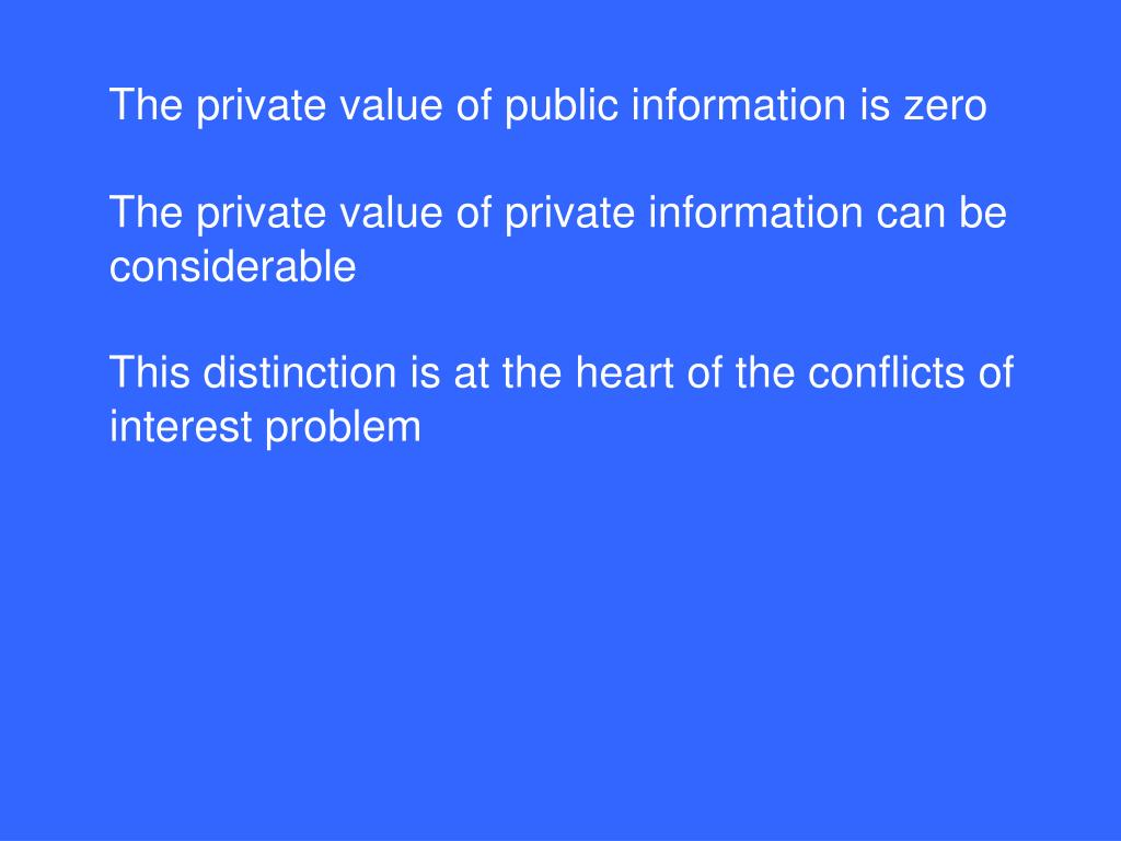 The private value of public information is zero