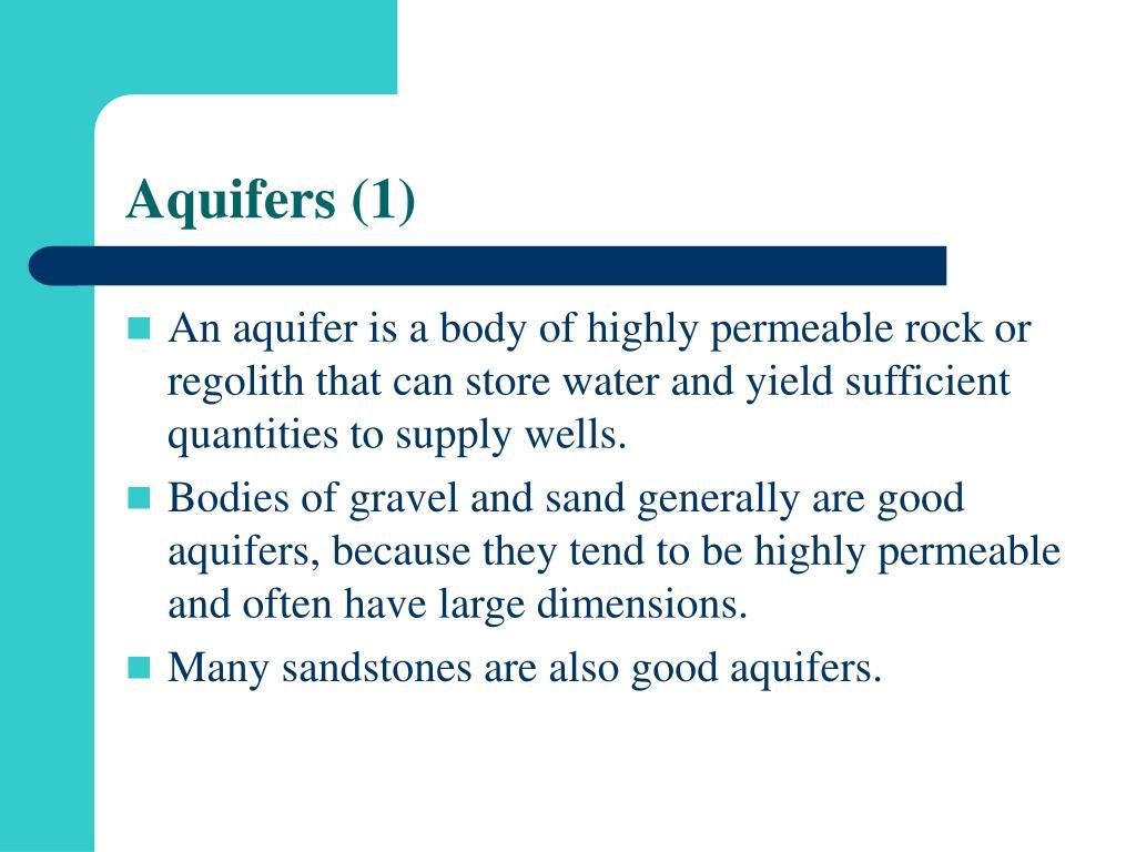 Aquifers (1)