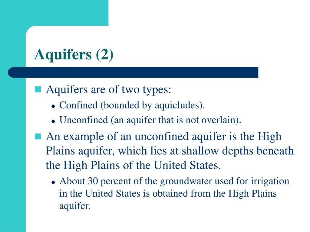 Aquifers (2)