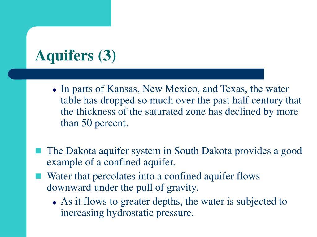 Aquifers (3)