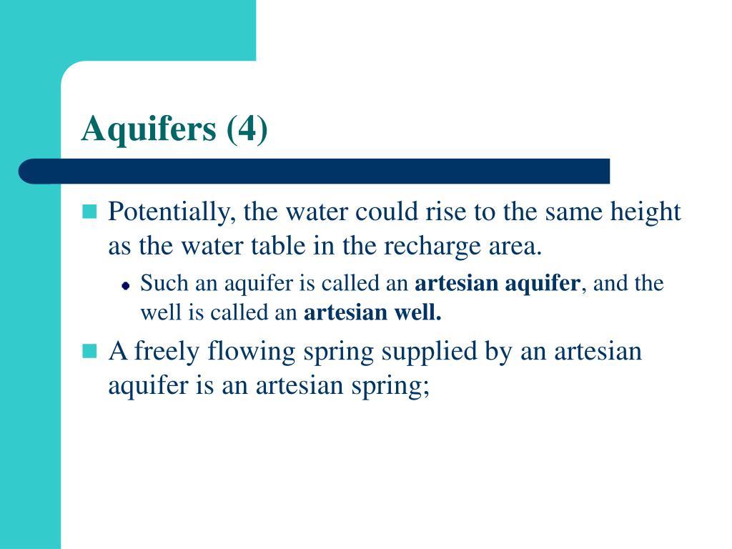 Aquifers (4)