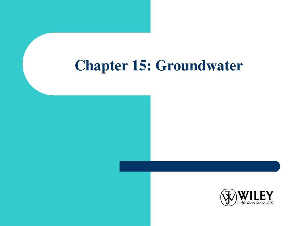 chapter 15 groundwater