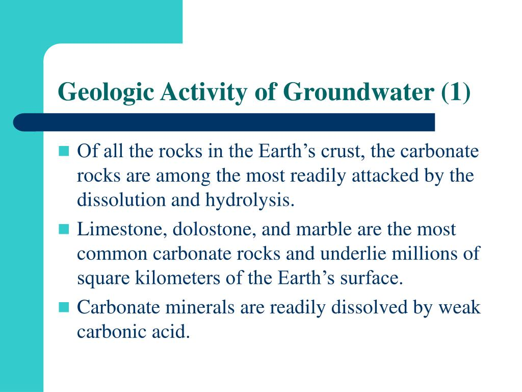 Geologic Activity of Groundwater (1)