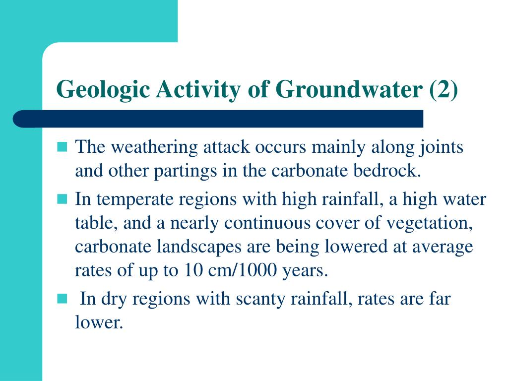 Geologic Activity of Groundwater (2)