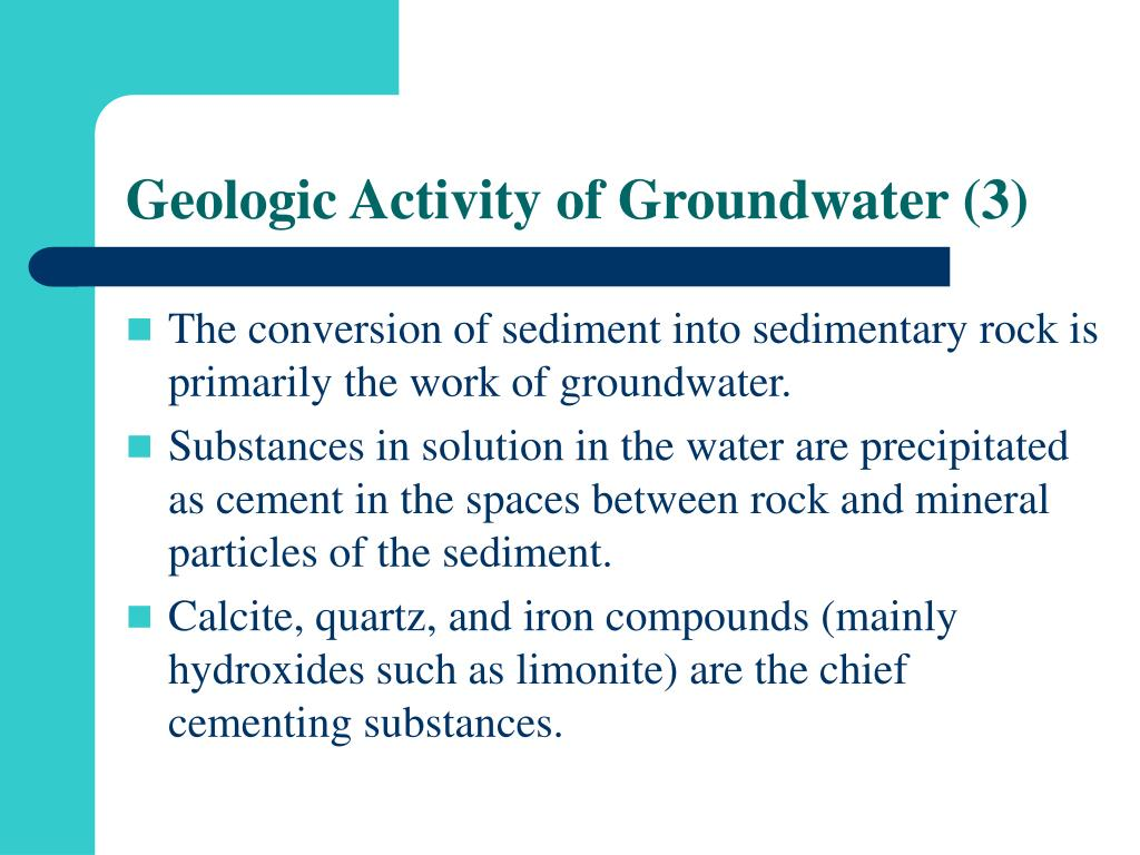 Geologic Activity of Groundwater (3)