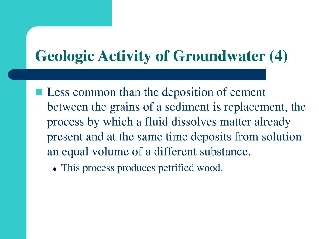 Geologic Activity of Groundwater (4)