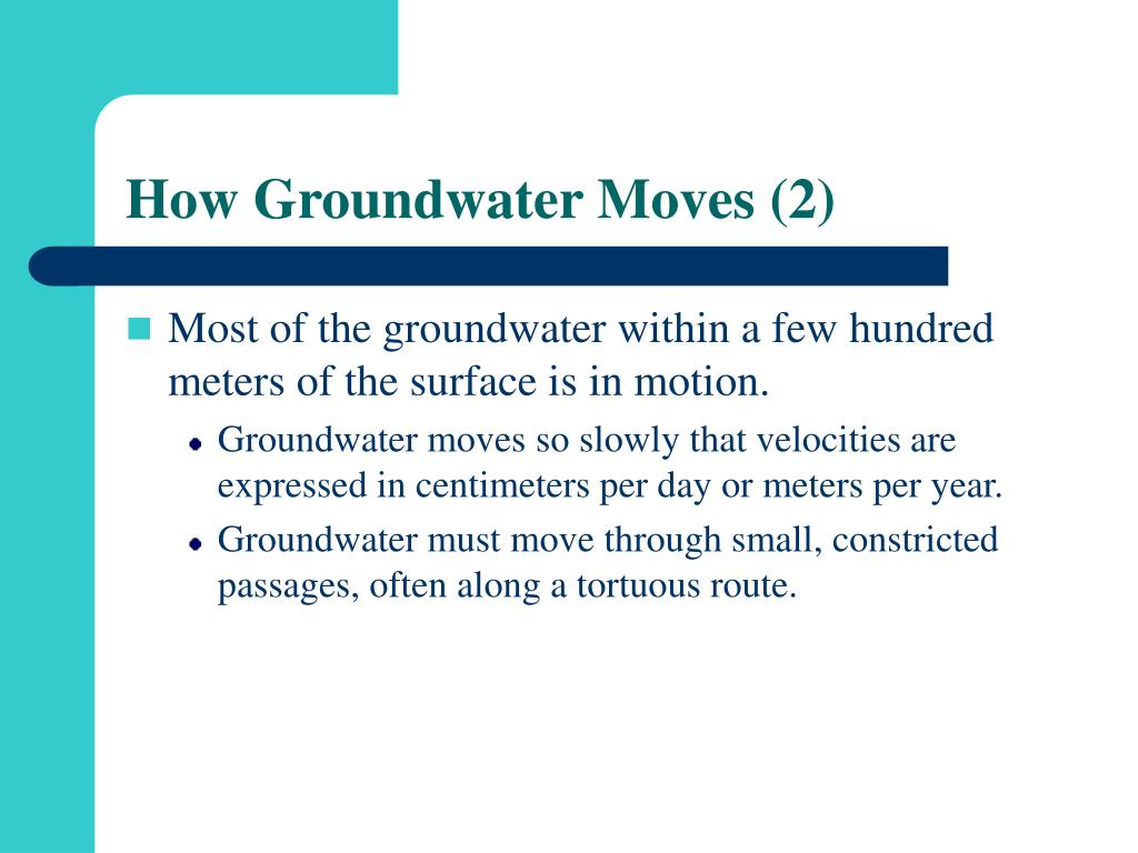 How Groundwater Moves (2)