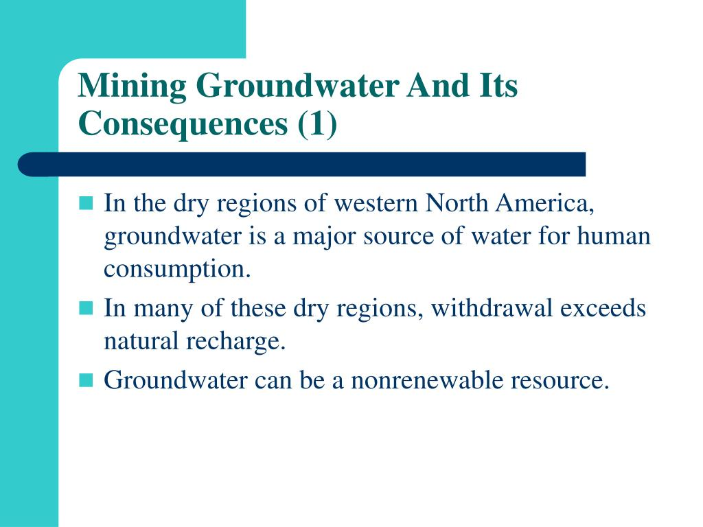 Mining Groundwater And Its Consequences (1)