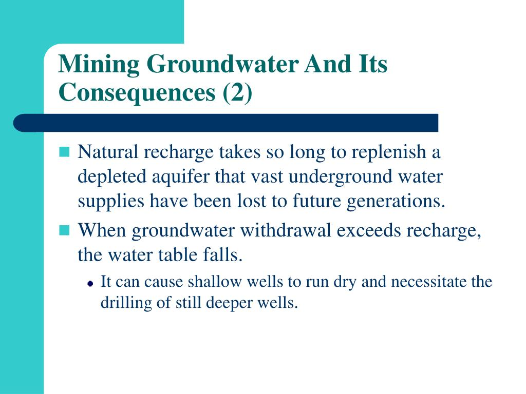 Mining Groundwater And Its Consequences (2)