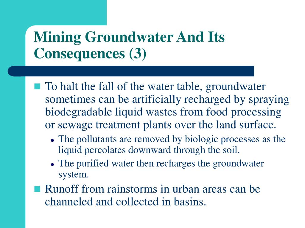 Mining Groundwater And Its Consequences (3)