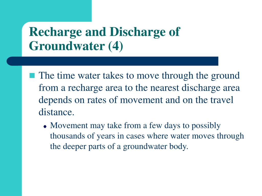 Recharge and Discharge of Groundwater (4)