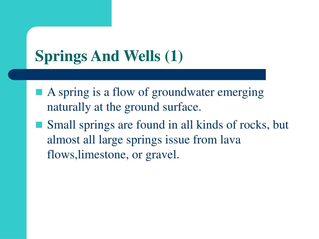 Springs And Wells (1)