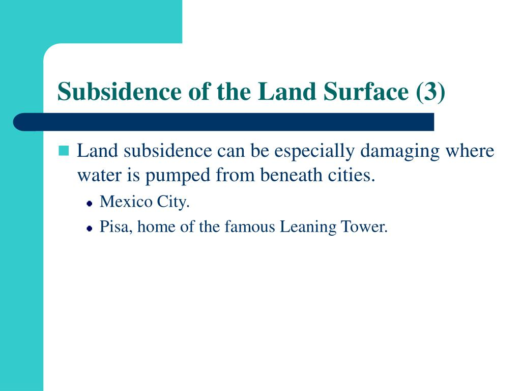 Subsidence of the Land Surface (3)