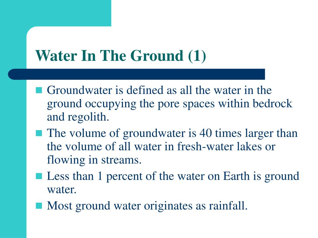Water In The Ground (1)