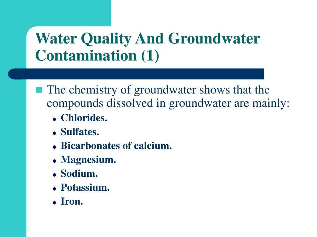 Water Quality And Groundwater Contamination (1)