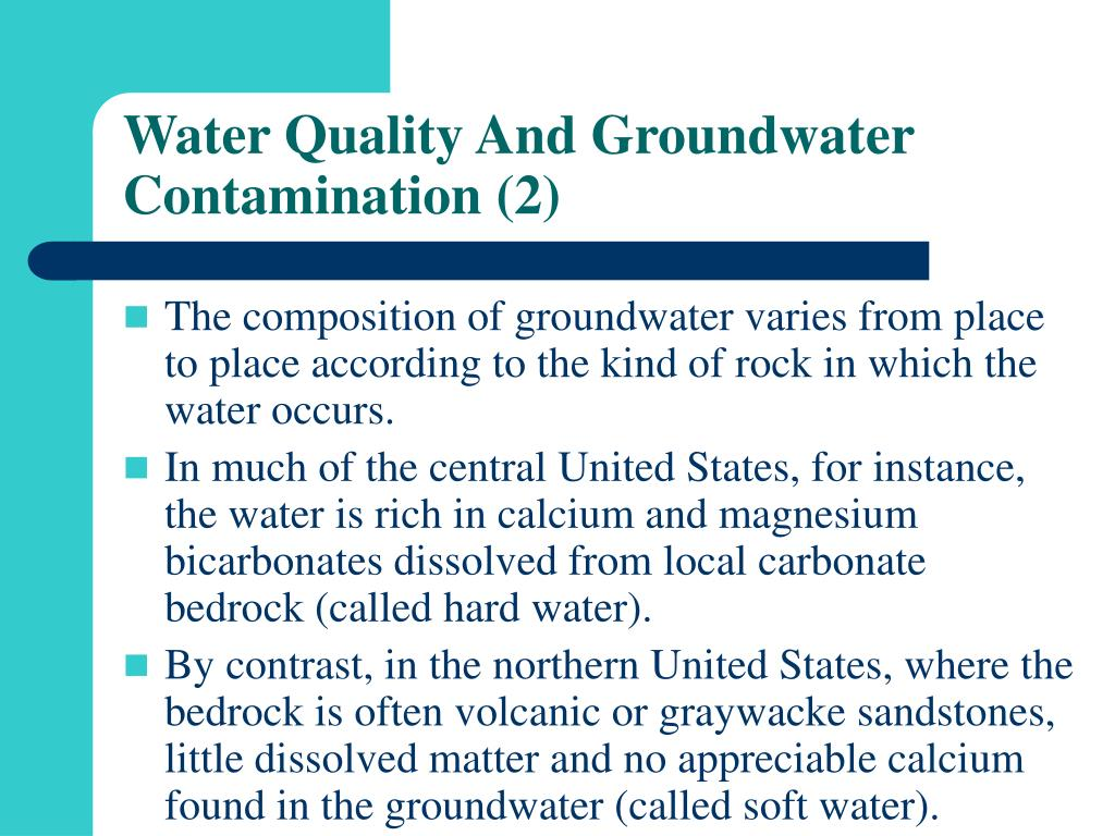 Water Quality And Groundwater Contamination (2)