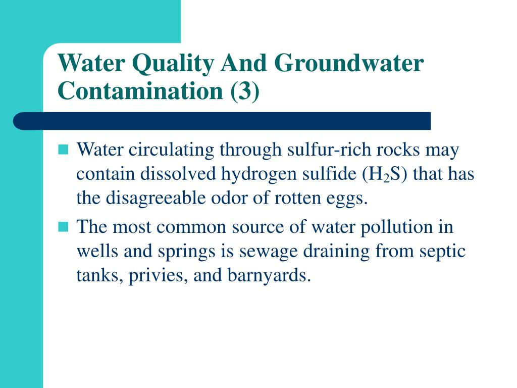 Water Quality And Groundwater Contamination (3)