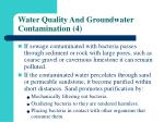 water quality and groundwater contamination 4