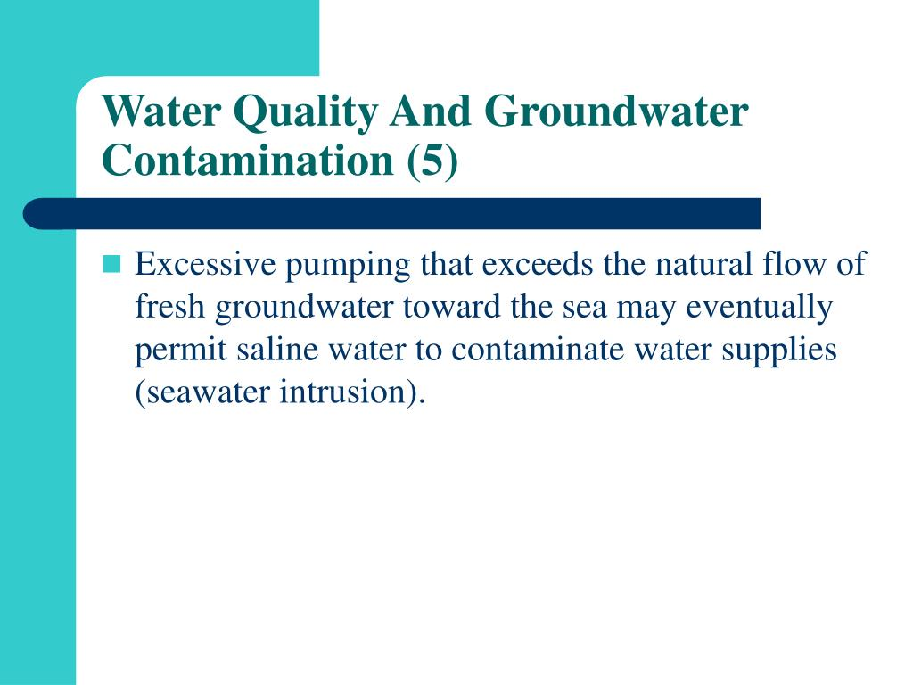 Water Quality And Groundwater Contamination (5)