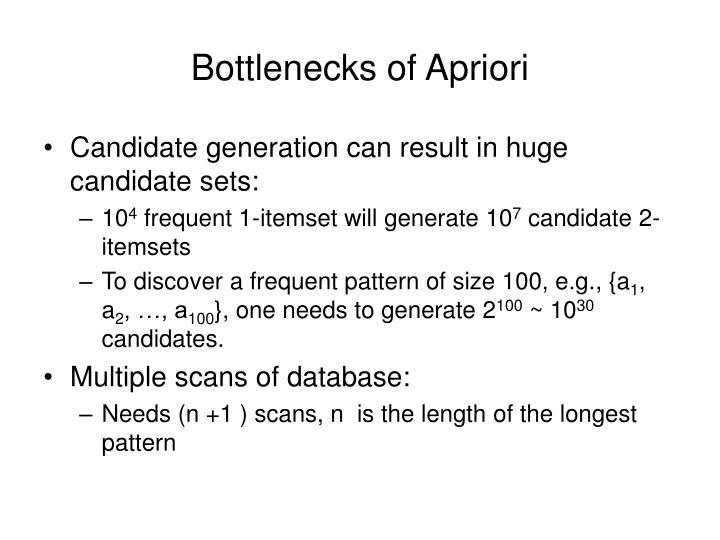 Bottlenecks of Apriori