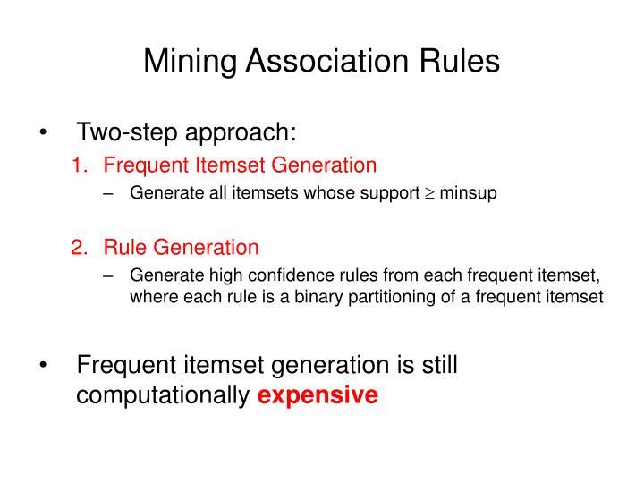 Mining Association Rules