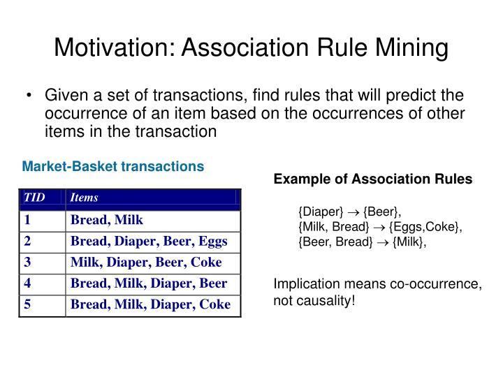Motivation: Association Rule Mining