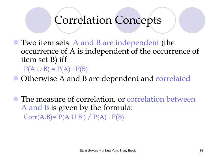 Correlation Concepts