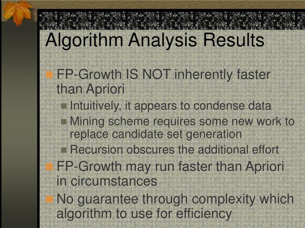 Algorithm Analysis Results