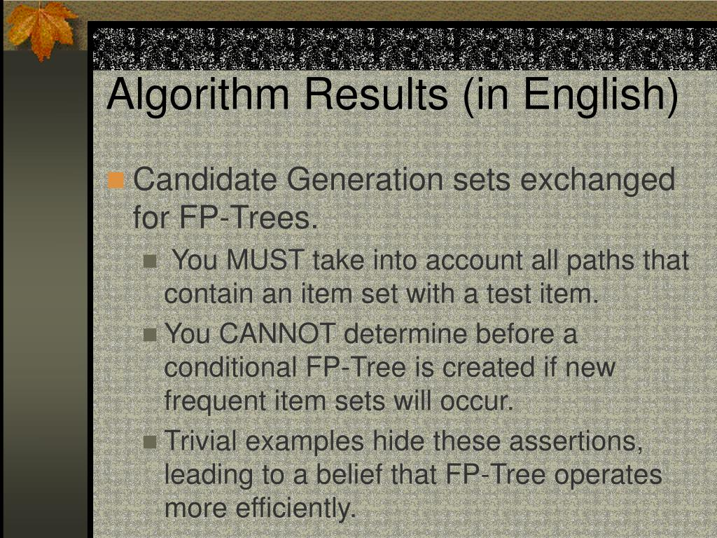 Algorithm Results (in English)