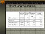 dataset characteristics