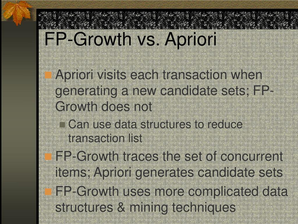 FP-Growth vs. Apriori