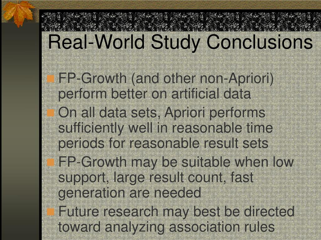 Real-World Study Conclusions