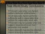 real world study conclusions