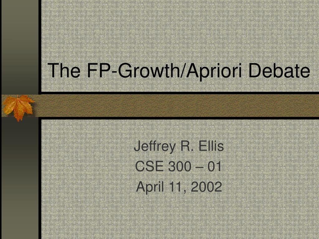 The FP-Growth/Apriori Debate