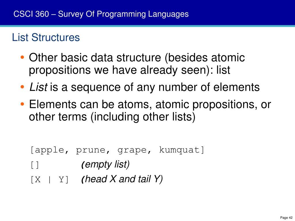 List Structures