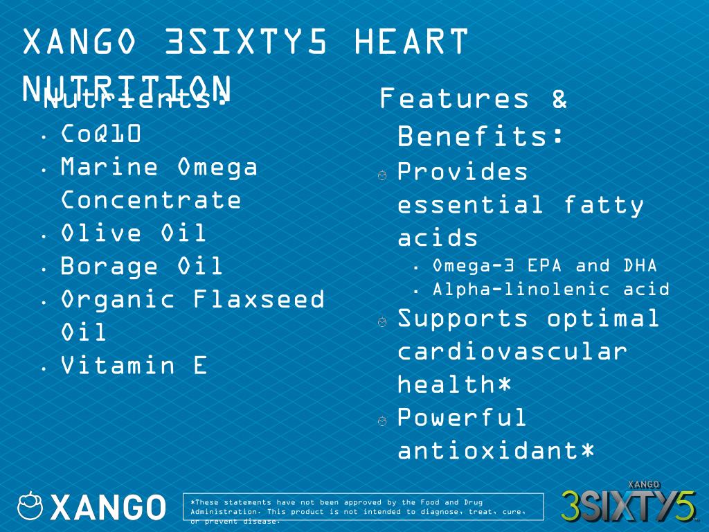XANGO 3SIXTY5 HEART NUTRITION