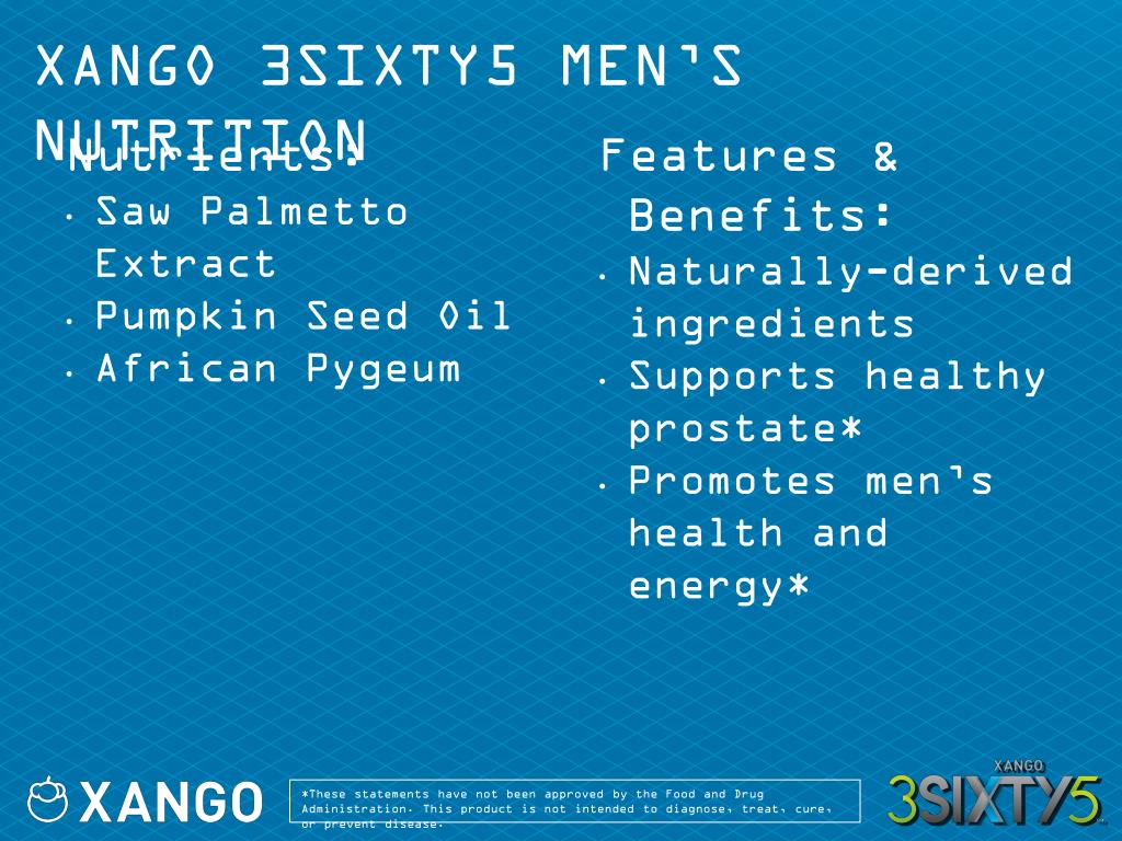 XANGO 3SIXTY5 MEN'S NUTRITION