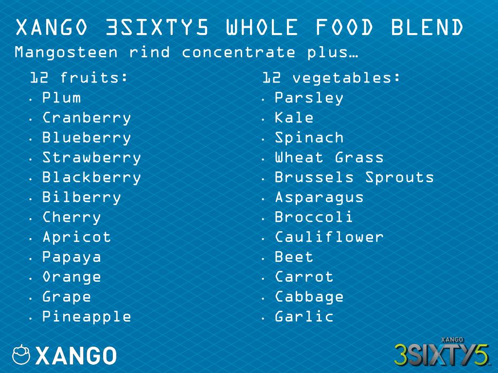 XANGO 3SIXTY5 WHOLE FOOD BLEND