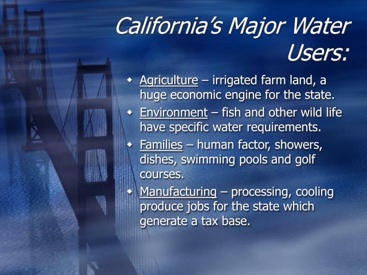 California s major water users l.jpg