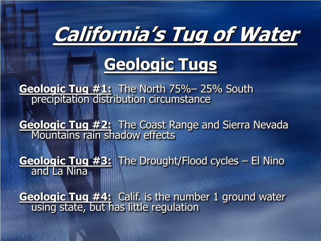 California's Tug of Water